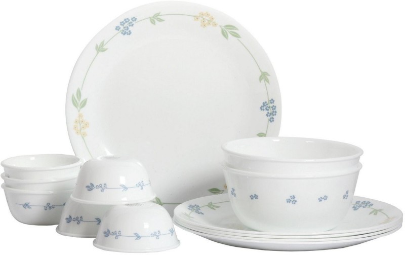 corelle Secret Garden Pack of 14 Dinner Set(Glass)