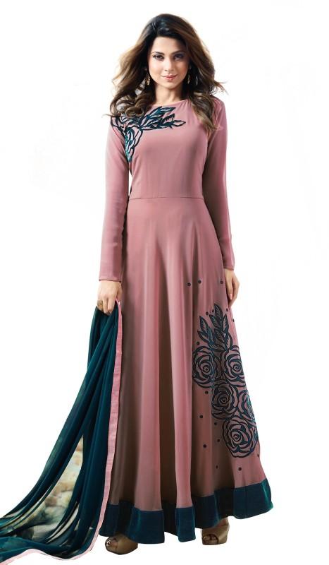 Fashions Bazaar Anarkali Gown(Pink)