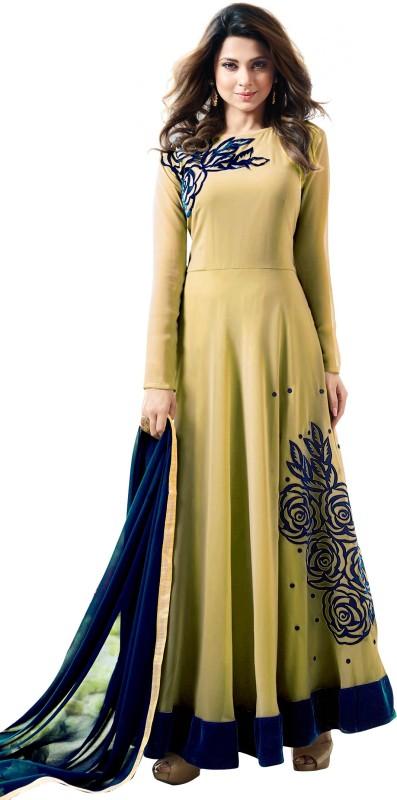 Shital Fashion World Anarkali Gown(Yellow)