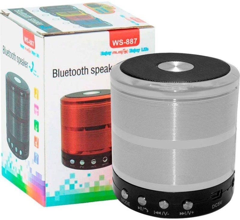 RNY Bluetooth Speaker WS-887 (Silver) Speaker Mod(Compatible only with  All Mobile)