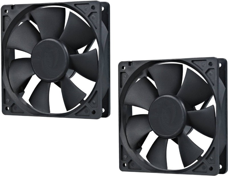 Brand one DC Axial Case Cooling Fan. SIZE : 3.35 inches (8x8x2cm), (80x80x20mm), SUPPLY VOLTAGE : 12VDC, Material : Plastic P.B.T., Color black (pack of 2) Cooler(black)