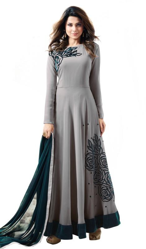 Fashions Bazaar Anarkali Gown(Grey)