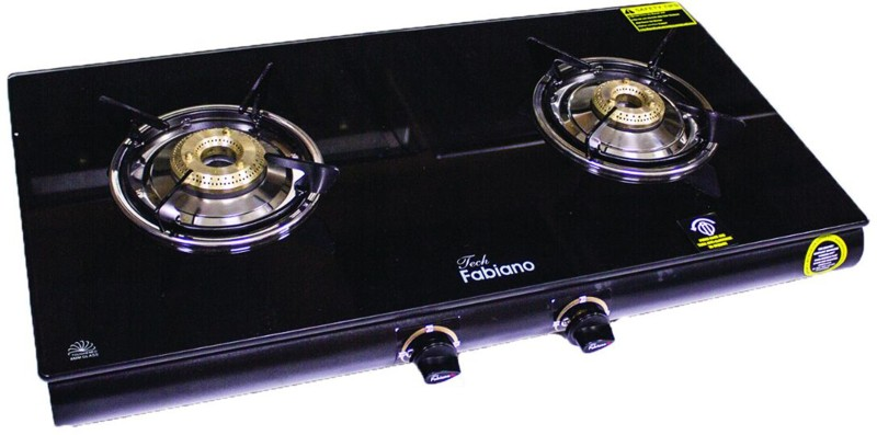 Fabiano Glass, Stainless Steel Manual Gas Stove(2 Burners)