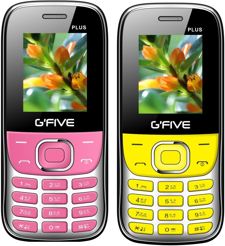 Gfive Plus Combo of Two Mobiles(Pink & Yellow)