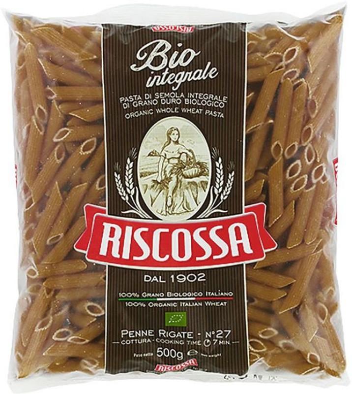 Pastificio Riscossa Organic Penne Rigate Whole Wheat Pasta Shell Pasta(500 g)