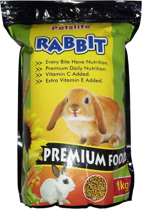petslife Rabbit Food 1kg Premium Quality & Healthy Food For All Kinds of Rabbit Every Bite Have Nutrition 1 kg Dry Rabbit Food