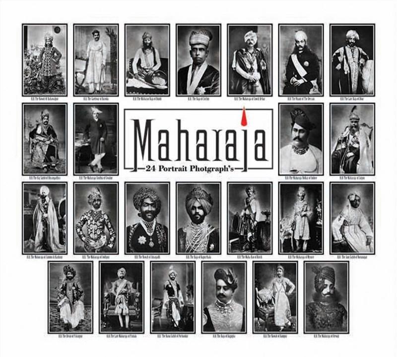 Maharaj 24 potraits postcard Paper Print(8 inch X 5.25 inch)
