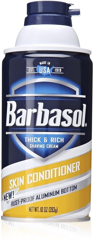 Barbasol Skin Conditioner Thick And Rich Shaving Cream For Men, 10 Ounce(283 g)