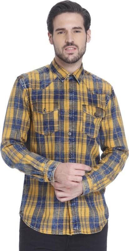 Jack & Jones Men Checkered Casual Brown Shirt