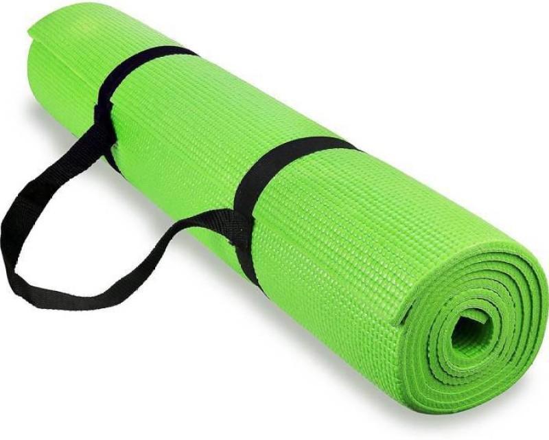 Quick Shel 100%EVA Eco Friendly Mat, Exercise & Gym Mat With Yoga Strap Green 6 mm Yoga Mat