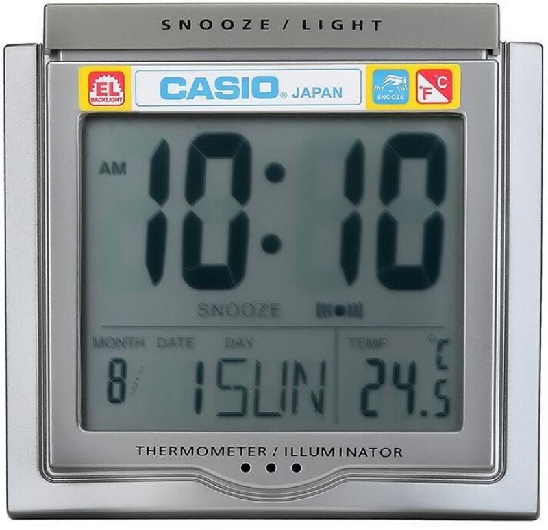 Casio Digital Grey, White Clock