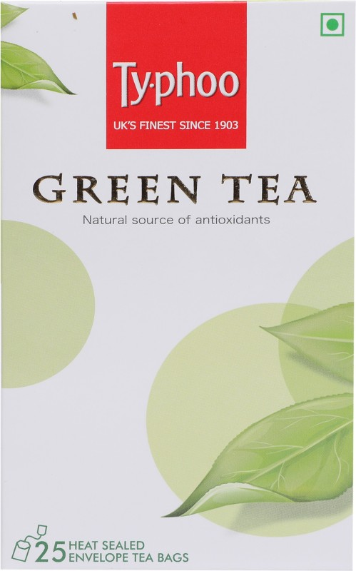 Typhoo Green Tea Bags(25 Bags, Box)