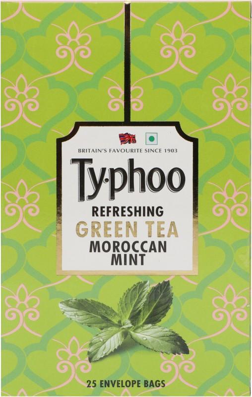 Typhoo Refreshing Moroccan Mint Green Tea Bags(25 Bags, Box)