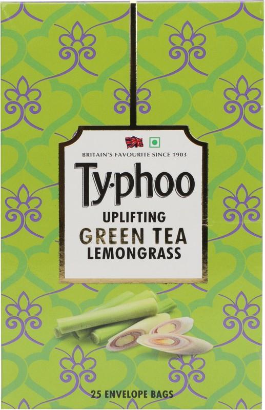 Typhoo Uplifting Lemon Grass Green Tea Bags(25 Bags, Box)