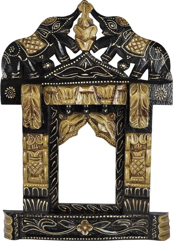 Lal Haveli Rajasthani Hand-Craved Photo Frame Beautiful Wood Jharokha(43.18 cm x 30.48 cm Handcrafted)