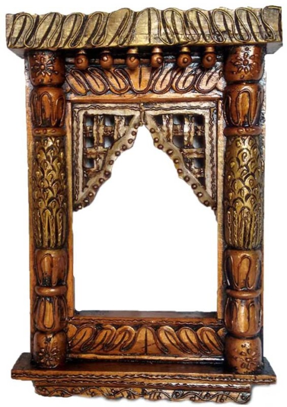 VAS Collection Home Wood Jharokha(46 cm x 32 cm Handcrafted)