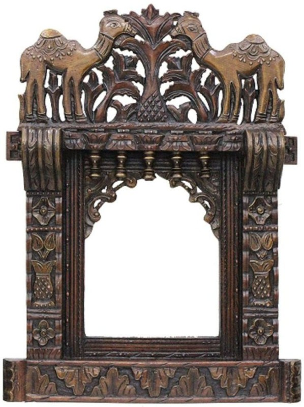 VAS Collection Home Wood Jharokha(68 cm x 14 cm Handcrafted)