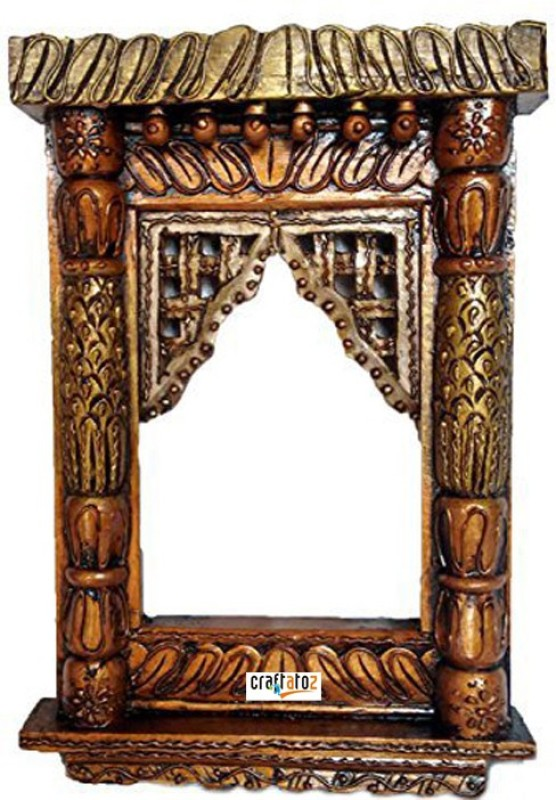 Craftatoz Wood Jharokha(40 cm x 27 cm Handcrafted)