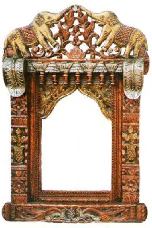 The Woods Hut Wood Jharokha(50.8 cm x 12.7 cm Handcrafted)