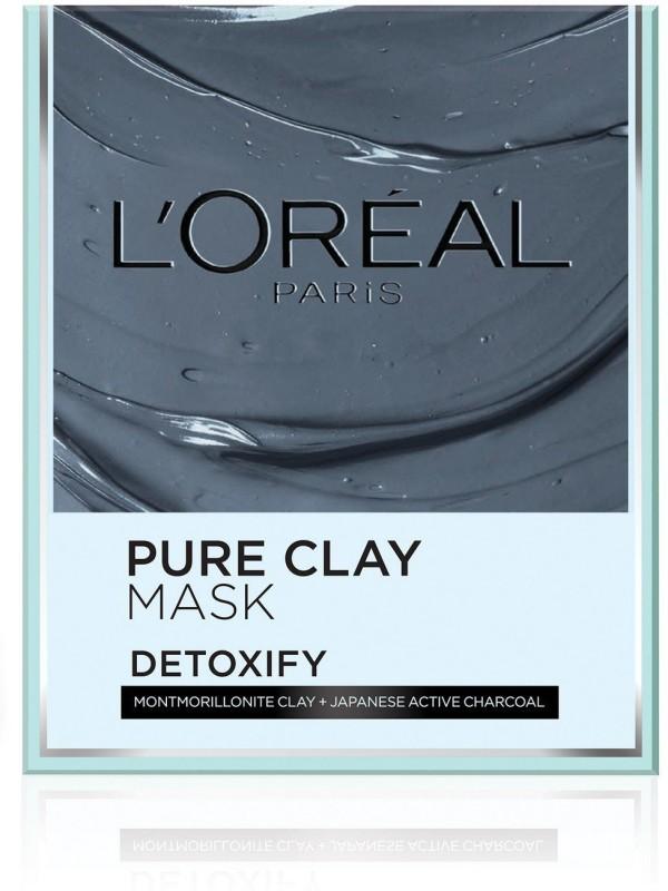 LOreal LOreal Paris Pure Charcoal Clay Mask, 50g(50 g)
