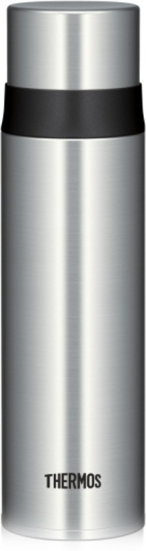 THERMOS Vacuum Insulated Stainless Steel Hydration Bottle, Bottle with Stopper, 0.500L Flask - Clear Stainless 0.500 ml Flask(Pack of 1, Steel/Chrome)