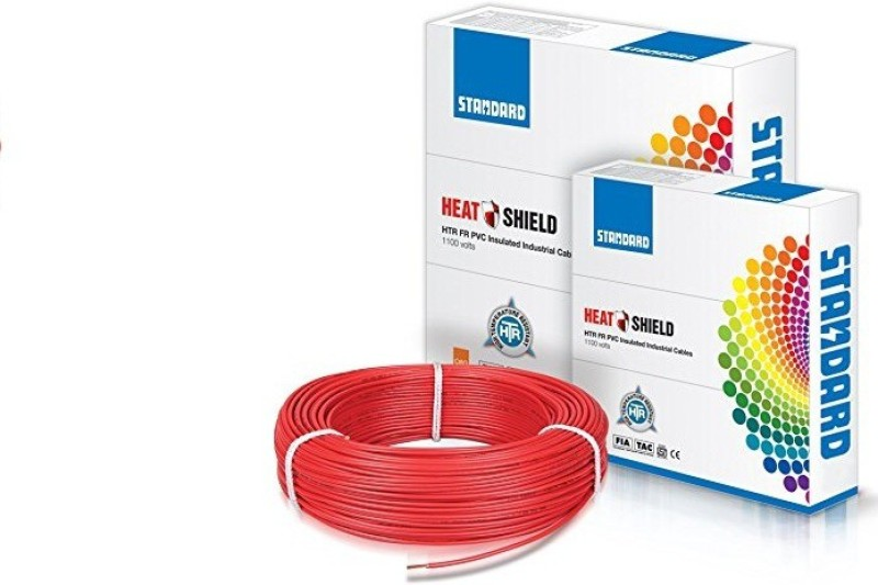 standard HTR FV Pvc Inculated Red 90 m Wire(Red)