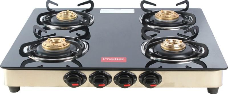 Prestige 4 Burner Marvel Glass Manual Gas Stove(4 Burners)