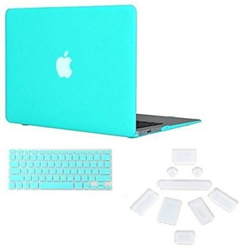 "Midkart Smooth Matte Mint Green / Turquoise for MacBook Pro 13"" 13.3 Inches Retina Display Only Model A1502 / A1425 With Logo Cut, Silicon Keyboard & Dust Plugs Hard Shell Rubberized Finish Case Cover Combo Set(Turquoise)"