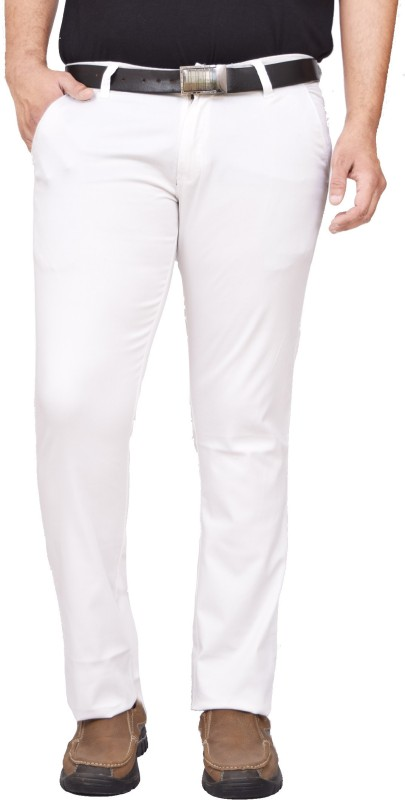 American noti Slim Fit Men White Trousers