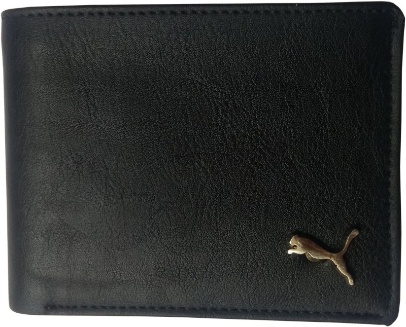 Puma Men Casual Black Genuine Leather Wallet(4 Card Slots)