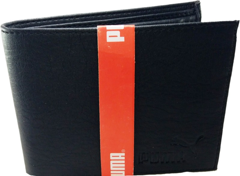 Puma Men Black Artificial Leather Wallet(3 Card Slots)