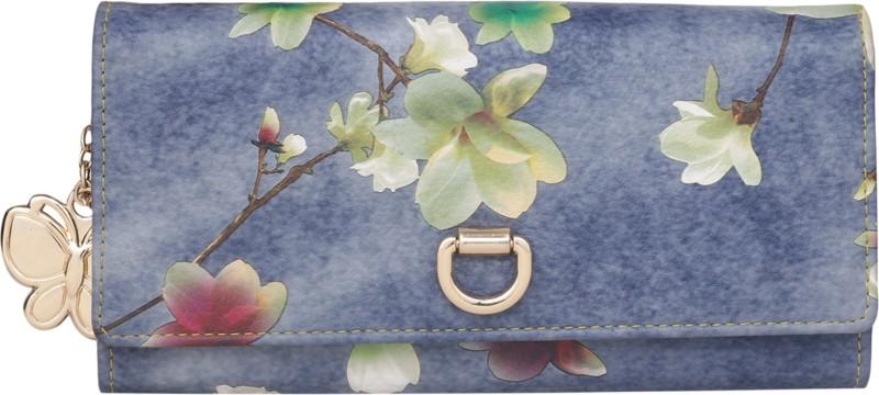 Butterflies Women Blue, Green Artificial Leather Wallet(4 Card Slots)