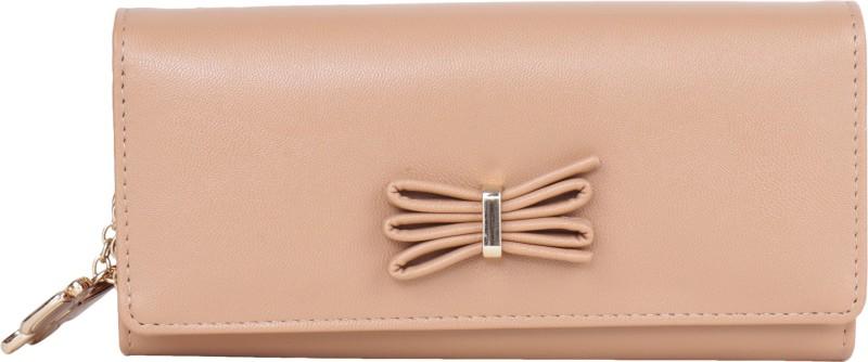 Butterflies Women Casual, Formal Beige Artificial Leather Wallet(4 Card Slots)