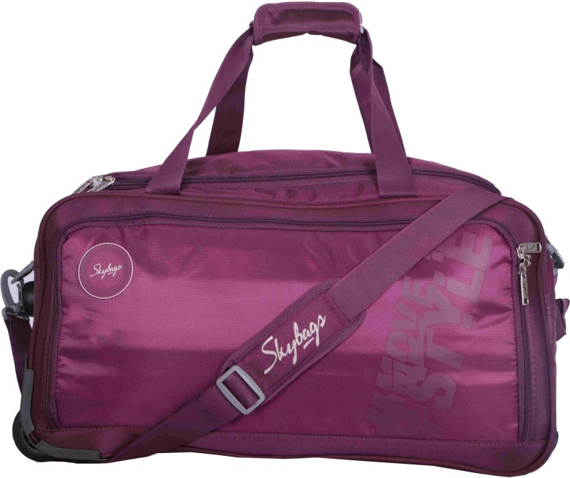 Skybags Casper Duffle on Wheel Purple - 57CM - (PURPLE) Travel Duffel Bag(Purple)
