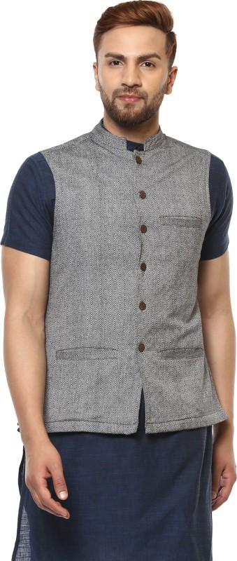 Abhiyuthan Sleeveless Solid Mens Jacket