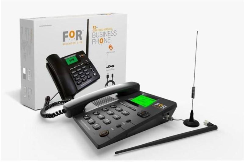 for GSM DUAL SIM F2+FIX WIRELESS PHONE,CORDED&CORDLESS Corded Landline Phone(Black)