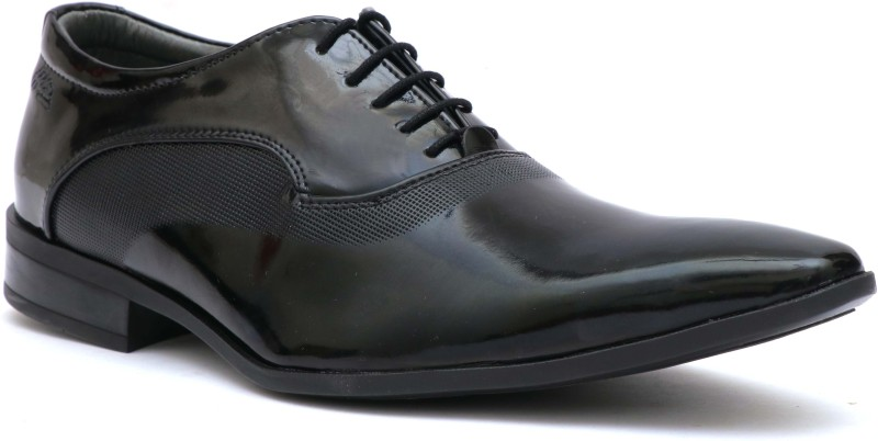 Hitz Hitz Mens Black Patent Leather Derby Formal Shoes Derby For Men(Black)