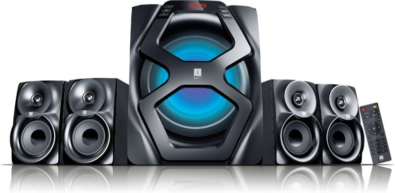 iball Breathless BT49 72 W Bluetooth Home Theatre(Black, 4.1 Channel)