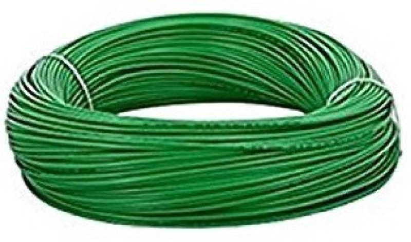 DMak Toran 2.5.Sq/mm Copper PVC Green 90 m Wire(green)