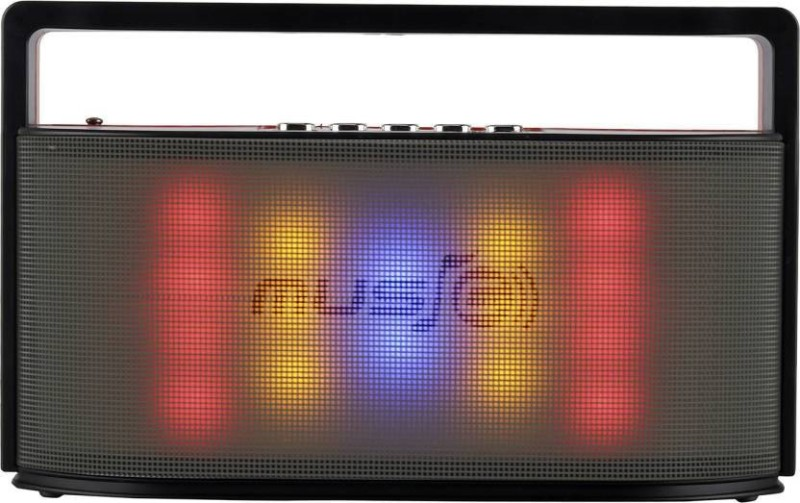 CRETO latest high bass sound multicolor led light on front fm radio support bluetooth, aux, pendrive, memory card., headphone out, wireless autodyne , Phone call FM Radio(red)