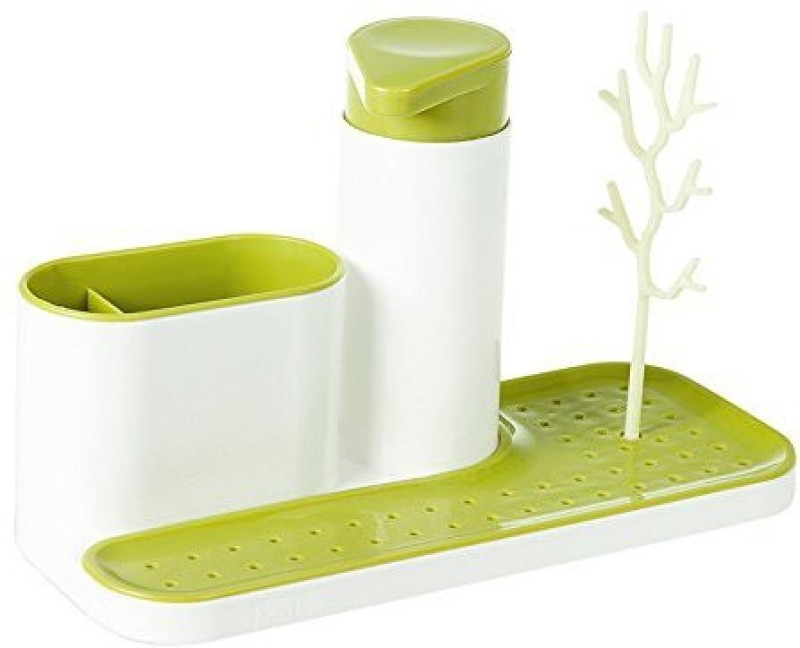 sajan Bathroom Soap Holder Stand for Kitchen Sink With Liquid Soap Dispenser & Cleaning Cloth Holder 200 ml Gel, Lotion, Lotion, Conditioner, Shampoo Dispenser (Multicolor) 1000 ml Shampoo Dispenser(Multicolor)