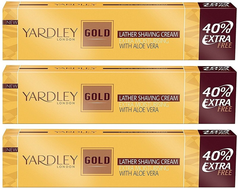 Yardley London Gold Shaving Cream - 70 g (Pack of 3)(60 g)