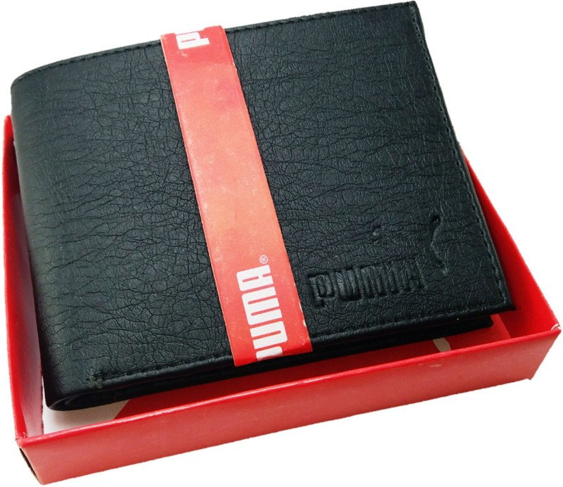 Puma Men Casual Black Artificial Leather Wallet(3 Card Slots)