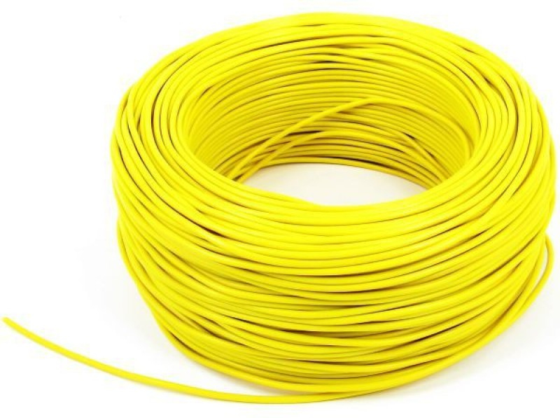 DMak Toran PVC 1.5-Sq/Mm -YELLOW Yellow 90 m Wire(YELLOW)