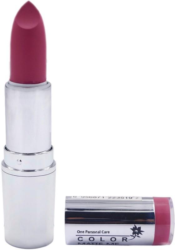 One Personal Care Pro Color | Matte Me Lipstick 116(Magenta, 3.8 g)