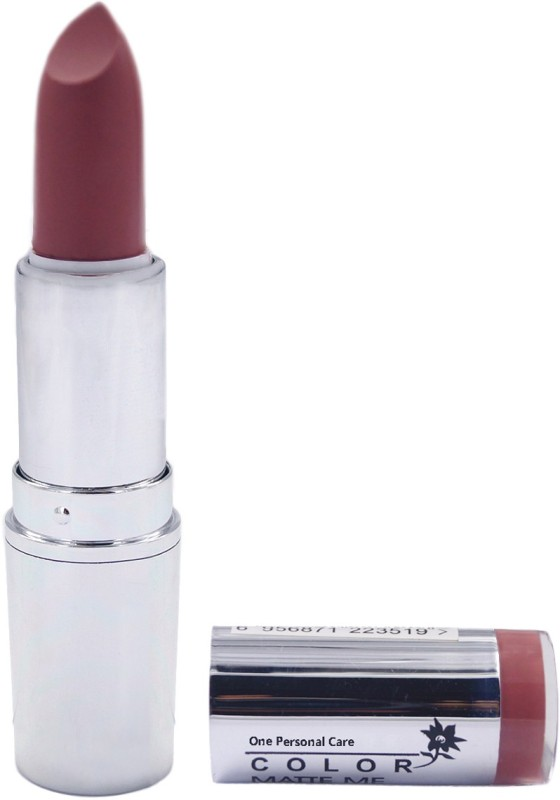 One Personal Care Pro Color | Matte Me Lipstick 130(Vintage Pink, 3.8 g)