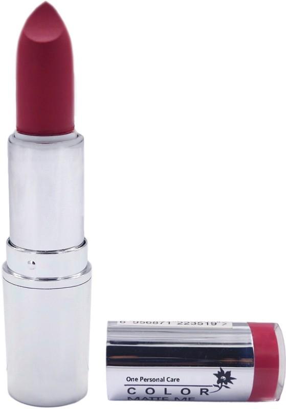 One Personal Care Pro Color | Matte Me Lipstick 134(Burgundy, 3.8 g)