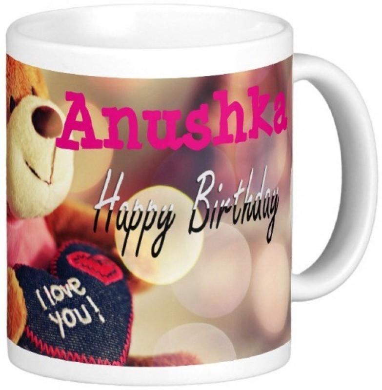 GNS Happy Birthday Anushka Ceramic Mug(325 ml)