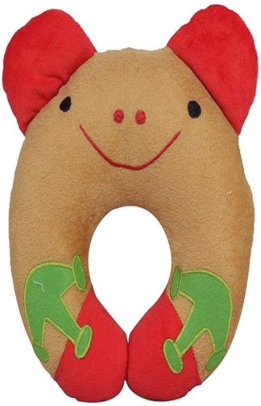 CHHOTE SAHEB U shape Baby Pillow Pack of 1(Brown, Red)