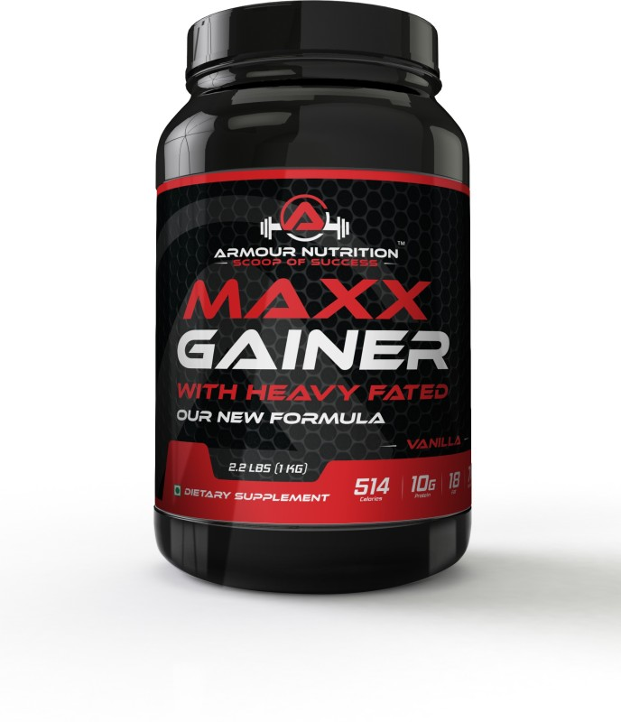armour nutrition Maxx Weight Gainers/Mass Gainers(1 kg, Vanilla)